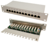 LogiLink Patch Panel 10 CAT6 12-Port geschirmt