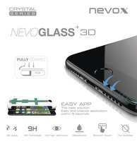nevox NEVOGLASS 3D - Apple iPhone XS / X curved glass ohne EASY APP schwarz