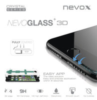 nevox NEVOGLASS 3D - Apple iPhone 8 curved glass mit Easy App weiß