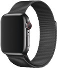 Apple Watch 44 mm Milanaise Armband space schwarz