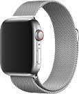 Apple Watch 44 mm Milanaise Armband silber