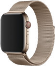 Apple Watch 44 mm Milanaise Armband gold